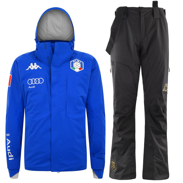 카파스키복 1718 ITALY SKI TEAM MEN PADDING SET BLUE