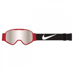 나이키고글 15/16 NIKE MAZOT University Red/White/Black - Silver Ion 보드고글