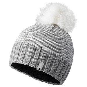 아토믹 비니 1617 ATOMIC W ALPS FLUFFY POM BEANIE LIGHT GREY