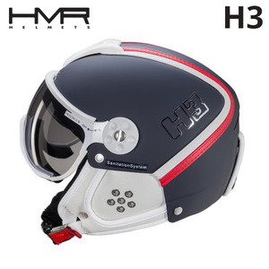 햄머 여성 헬멧 1718 HMR H3 253 BLUE/RED&WHITE LEATHER