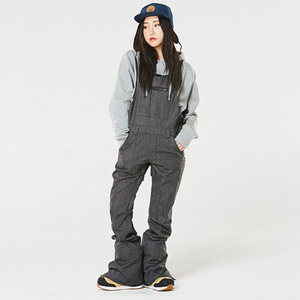 여자보드복 1617 686 WMS Parklan Black Magic Ins. Overall BLACK DENIM 오버롤
