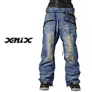 데님 보드복 바지 X-NIX X-Real Denim Print Pants