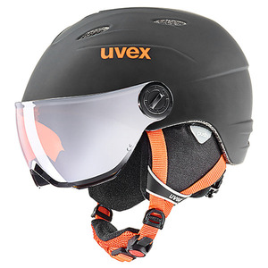 아동 스키헬멧 1718 uvex junior visor pro black-orange mat 바이저헬멧