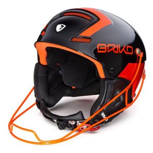 1718 브리코헬멧 SLALOM BLACK ORANGE FLUO