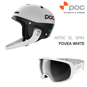 POC 헬멧+고글 세트 9번 ARTIC SL SPIN WHITE + FOVEA