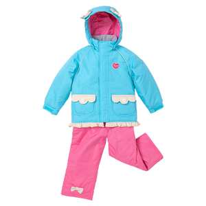 어린이 스키복 1819 TODDLER SUIT SAX PINK