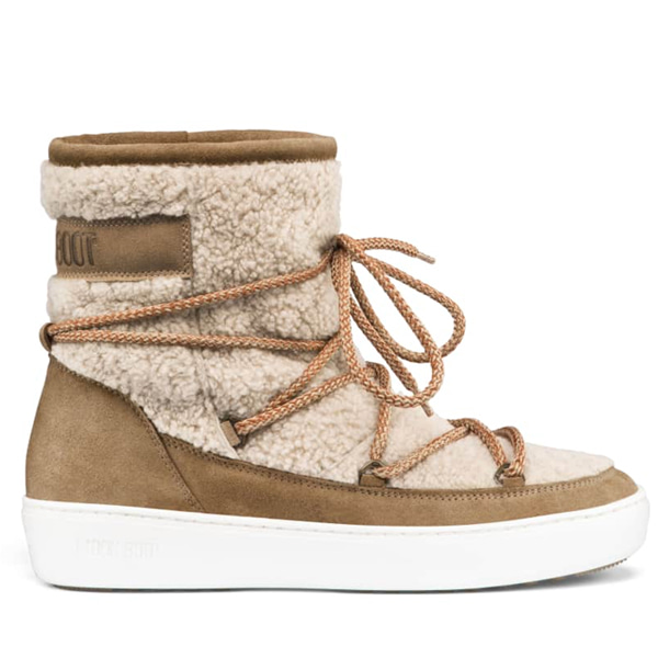 여성 문부츠 PULSE MID WOOL SAND/OFF WHITE
