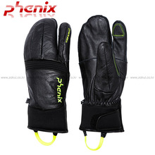 삼지 스키장갑 1617 PHENIX DELTA TRI-FINGER LEATHER GLOVE-BK