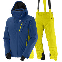 스키복 SALOMON ICEGLORY JKT+PNT (BLUE+YELLOW)