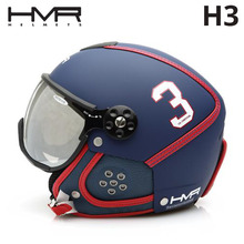 햄머헬멧 1718 HMR H3 La Martina BLUE/RED VARIO VISOR 변색