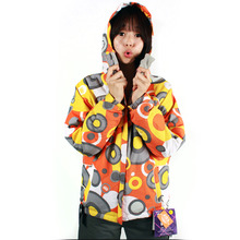 여자보드복 686 Girl's Mannual Amelia Ins. Jacket Orange Circles