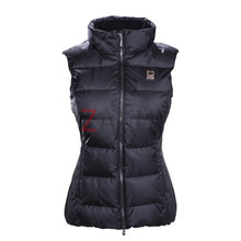 데상트 스키복 1718 DESCENTE D8-9703 ISLA WOMEN DOWN VEST BK/BK