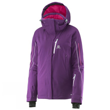 살로몬 여성스키복 ICEGLORY JKT W COSMIC PURPLE