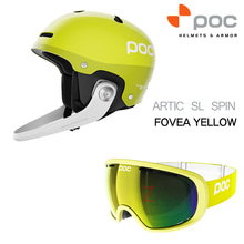 POC 헬멧+고글 세트 7번 ARTIC SL SPIN+FOVEA YELLOW
