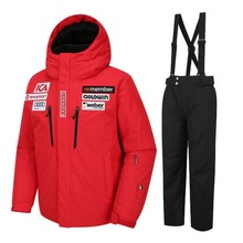 골드윈 아동 스키복 1718 GOLDWIN JR SKI DOWN JKT RED+ALPINE PANT