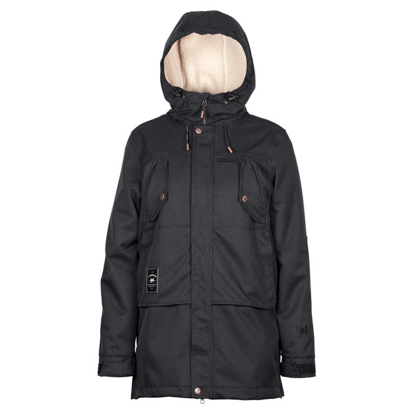 L1 여자 보드복 2021 ASHLAND JACKET BLACK